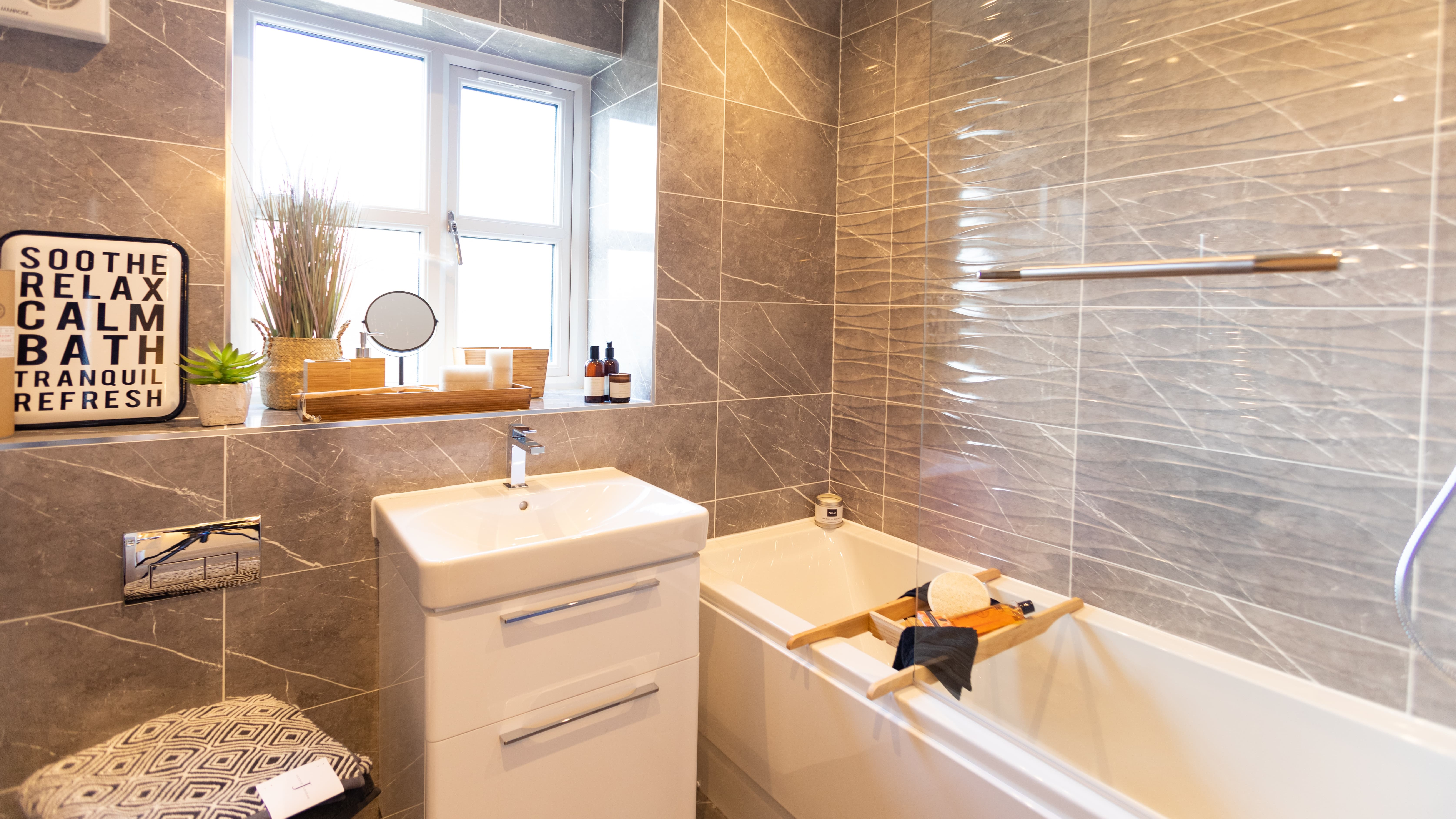 The Malham Show Home - Erris Homes, Orchard Croft Family Bathroom