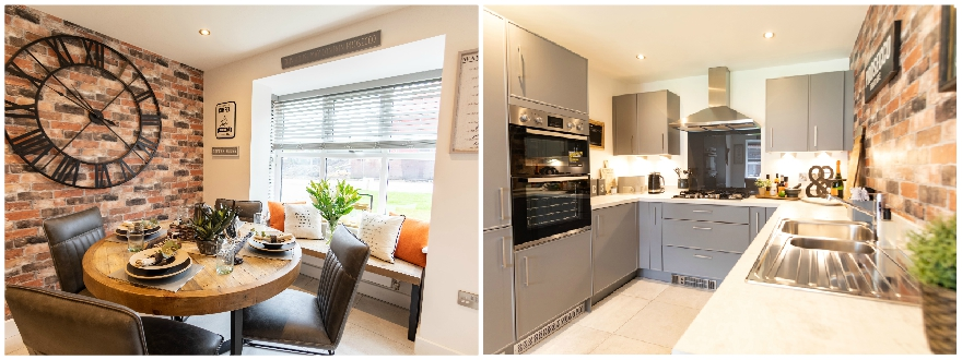 The Malham Show Home - Erris Homes, Orchard Croft Kitchen and Dining
